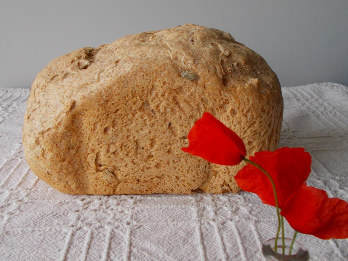 chleb półrazowy na drożdżach